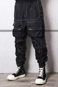 2020 New Men's clothing GD Hair Stylist fashion Catwalk High street hip hop Loose legged casual pants with reverse stitching