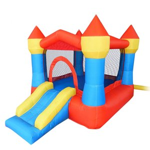 Children's Mini Inflatable Castles For Sale Garden Supplies Small Jumping Jumper with Slide Funny Trampoline Moonwalk Bouncer Castle Indoor Outdoor Party Kids Play