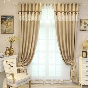 Modern Minimalist curtains for Living Room Bedroom Upscale Chenille Shade Solid Color Curtain Left and Right Biparting Open1