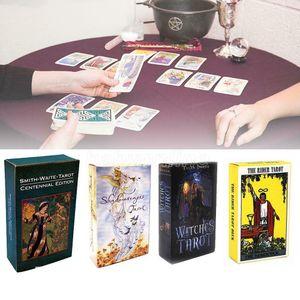 Grande vente! 15 Styles Tarots Sorcière Rider Smith Waize Shadowscapes Wild Tarot Deck Board Cartes de jeu avec boîte colorée Version anglaise