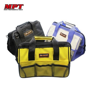 MPT Nylon Canvas Waterproof Tool Bag NO Belt Organizer Portable Double Oxford Colth Storage Bags Close Top Wide Mouth Toolkit Y200324