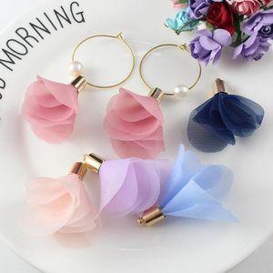 10pcs Multicolore Mini Fleurs Tassels Fringe Rouge Noir Blanc Blanc Gris Accessoires de bricolage Boucles d'oreilles Colliers Consultations de bijoux Pendants H Bbyzep
