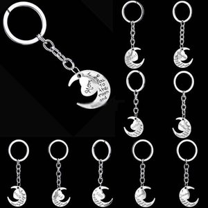 I Love You To The Moon and Back keychain Key Rings moon Love keychain designer jewelry