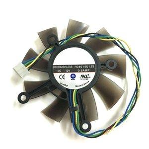 75MM FD8015U12S DC12V 0.5AMP 4Pin Soğutucu Fan için ASUS GTX 560 GTX550Ti HD7850 Grafik Ekran Kartı Soğutma Fanları