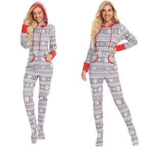 Chramme Family Pajamas Combinaisons à manches longues Body Body Rompers Snowflake Combinaison Outfit Pantalon Pantalon Romper Homewear Onedies CZ111601
