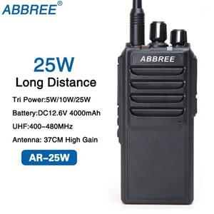 ABBREE AR-25W Tri-power 25W 10W 5W UHF 400-480MHz 10Km Walkie Talkie Ham Radio and 37CM High Gain Antenna and 4000mAh Battery1