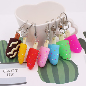 cheap fashion personalied Small gift activitie event giveaway summer creative ins wind candy color soft ice cream keychain pendant wholesale
