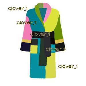 Brand designer men bathrobes unisex cotton women sleepwear night robe high quality bathrobe classcial luxury robe breathable eleg klw1739