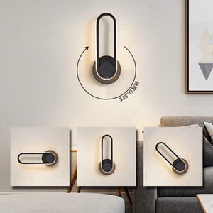 New 330 degree Rotate Modern Led Wall Sconce Lamp Minimalist Bedside Light Led wall Mirror Light living room hotel aisle LED rotatable wall