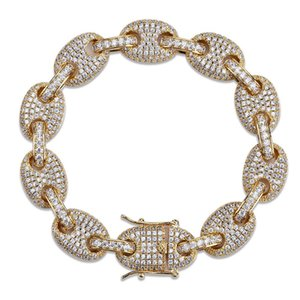 Hot Selling Men's Hip-hop Solid Bracelet Microzircon Cuban Chain European and American Personality Fashion Jewelry
