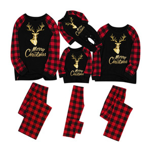 Christmas Pajamas Family Matching Clothes Christmas Pajamas Clothing Sets Mother and Daughter Father Son Matching Clothes Xmas Elk Homewears