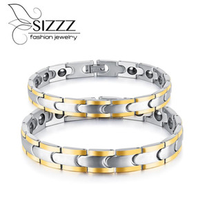SIZZZ Europe and the United States new bracelet magnet trend men's wild jewelry gold couple bracelet