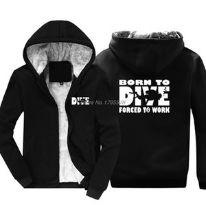 Born To Dive Hoodie Casual Winter Men Cotton Keep warm Thicken Sweatshirt Hip Hop Jackets Tops Harajuku StreetwearX1121