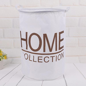 Cotton Linen Large Capacity Laundry Basket Bucket Organizer For Clothes Waterproof Folding Toy Organizer Home Organization jllGXm yy_dhhome