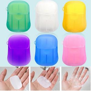 Disposable Soap Paper 20pcs box Portable Hand Washing Tablet travel Soap Paper Washing Hand Bath Portable Boxed Foaming Soap