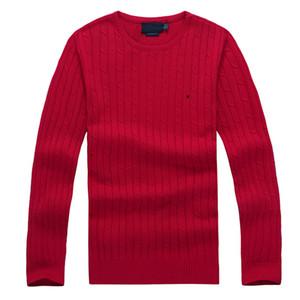 Maglione da uomo ralph lauren  girocollo collo miglio wile polo mens classico maglione maglia in cotone cotone inverno tempo libero fondo maglione maglione pullover 8 colori
