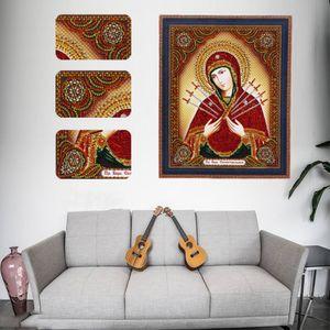 Neue 5D spezielles Diamant-Malerei mit Punkt-Diamant-Kreuzstich mit religiösen Serie Wiht-Stick-Diamant-Malerei in Wohnzimmerkunst