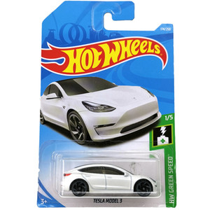 Ruedas calientes 1:64 Coche Tesla Modelo 3 S X Collector Edition Metal Diecast Model Cars Toys Gift Q0109