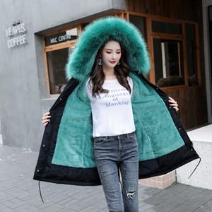Winter Jacket Women Long Coat Warm Fur Lining Plus Size Clothing Hooded Parkas Female Korean Style Snow Wear Thick Outwear F1203
