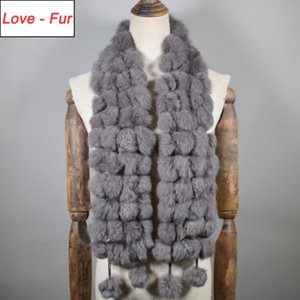 New Women Natural Real Fur Scarf Winter Warm Fur Neckerchief Lady Real Ring Scarves Wholesale Retail