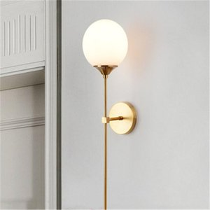 Modern Minimalist Wall Lamp LivingRoom Nordic Creative Personality Bedroom Bedside Lamp Clothe Shop Mirror Front Background