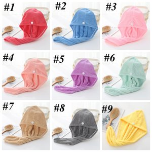 Microfiber Quick Dry Shower Hair Caps Magic Super Absorbent Dry Hair Towel Drying Turban Wrap Hat Spa Bathing Caps DHA2801