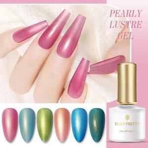 BORN PRETTY Pearly Gel Nail Polish Lustre Hybrid UV Gel Kit Colorful Soak Off UV LED Nail Art Varnish Base Top Coat