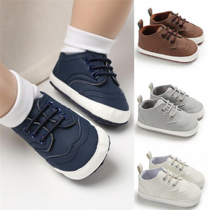 Boy & Girl Baby Shoes Slip On Toddler Pre Walker Newborn Shoes Soft Sole Anti Slip Sneakers Solid Trainers 0-18 Months
