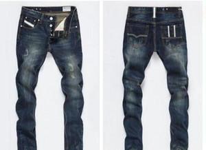 Mode Designer Mens Hommes Biker Jeans En Cuir Patchwork Slim Fit Moto Denim Joggers pour un pantalon de jeans en détresse masculin