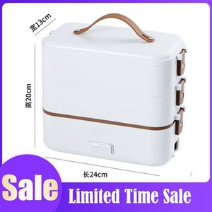 Single-layer Lunch Box Container Portable Electric Heating Insulation Dinnerware Storage Container Bento Lunch Box