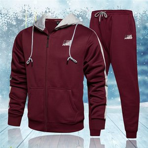 Autumn Winter Fashion Running Tracksuit Men Sweatshirt Sports Set Gym Clothes Men Hoodie Pants Set Training Suit Sport Wear 201203