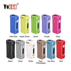 두꺼운 기름 Vape 카트리지 왁스 집중 분무기 키트 LED 조정 가능한 크기를 가진 1PC 원래 Yocan 유니 프로 모 650mAh VV 예열 배터리