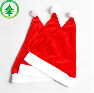 Adult Xmas Red Cap Santa Novelty Hat for Christmas Children Party Hat Women Men Boys Girls Cap for Christmas Party Props DHA2542