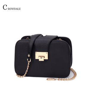 CROWDALE Women Shoulder Chain Strap Flap Designer Handbags Clutch Bag Ladies Messenger Bags With Met 2019 Spring New Fashion Q1119