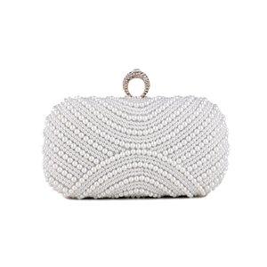 Women Luxurys Designer Bag 2020 Wedding Pearl Purse Party ELegant Evening Clutch Shoulder Bags Shiny Rhinestone For Handbag Bag Dkkqu