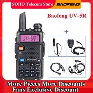Baofeng UV-5R 5W 워키 토키 VHF UHF 듀얼 밴드 128 CH 아마추어 햄 CB 양방향 라디오 방송국 UV 5R 휴대용 사냥 송신기 1