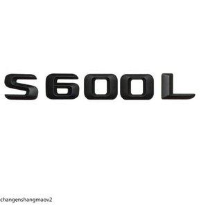 "Matt Black ""S 600L""트렁크 리어 문자 Word Badge 엠블럼 Number Letter Decal Sticker Mercedes Benz Maybach S 클래스 S600L"