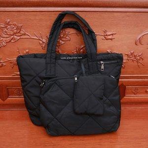 3 Sets Oxford Women Shoulder Bags 2020 Winter Soft Space Cotton Air Designer Handbags High Quality Large Capacity Tote Purse Sac