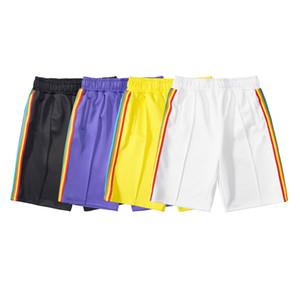 2021 Yaz Yeni Şort Gökkuşağı Şerit Dokuma Rahat Şort Sokak Moda Trendy Marka Beş Noktası Pantolon Sıcak Satış