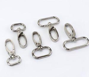 10 bolsas de pic correas metálicas hebillas de metal collar langosta cierre giratorio clips de gatillo snap gook bricolaje cuero artesanía accesorio