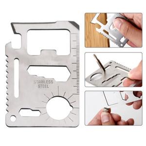 11 em 1 faca suíça multifuncional para camping ao ar livre sobrevivência caça militar cartão de crédito faca sos bolso exército faca ferramentas DHF3527
