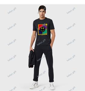 2021 NUEVO Camiseta de bordado de lujo Moda Hombres y mujeres Design T-shirts T Shirts de alta calidad blanco y negro 100% algodón gratis Shippi