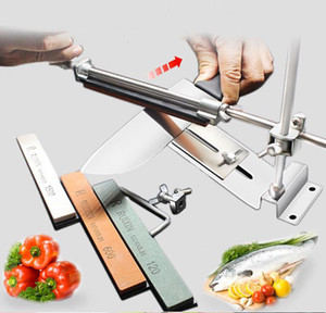 2021 New durable Iron Steel Kitchen Knife Sharpener Professional Fixed Sharpening Tools Fix-Angle 120-1500Grit Stones Whetstone MDS01