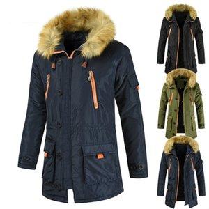 2020Arrival Parkas Men Designer Fashion Solid Color Inverno Abbigliamento Abbigliamento Cappotti Mens Luxury Oversize Lungo Spesso Cappotto Cappotto Plus Size