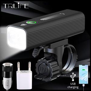 TRLIFE 3200mAh Bisiklet Far Güç Bankası Olarak 1000Lümens USB Ücretli L2 Bisiklet Işık Ön IPX5 Su Geçirmez MTB Bisiklet Fener Z1204
