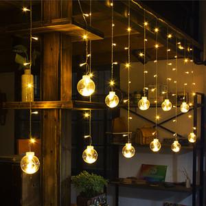 3M Globus LED Girlande Sternenry Kristall Ing Ball Schnur Lichter Dekore für Vorhänge Schlafzimmer Wohnzimmer Balkon Weihnachten Hochzeit 201130