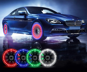 Car Wheel Tire Valve Cap Lights- 15 Flashing Modes - Motion Sensors Solar Charging-Intelligent Control System for Bike Bicycle Motorcycle