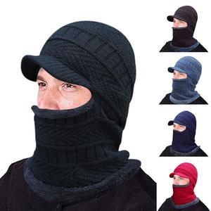 Skullies Beanies Men Scarf Knitted Hat Cap Male Plus Bonnet Warm Wool Thick Winter Hats For Men Women Beanie Hat Cap