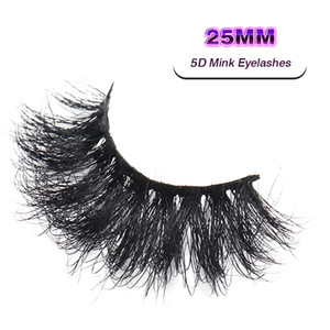 VMAE 5D 25mm Mink Eyelashes Siberian Mink peles chicoteis feitos sob encomenda Costura privada longo eyelash Soft Natural 3D Mink Eyelashes Extensão
