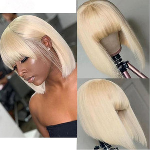 8-14 Inch 613 Bob Wigs Straight Hair 100% Real Human Hair Fully Machined Real Human Hair Wig